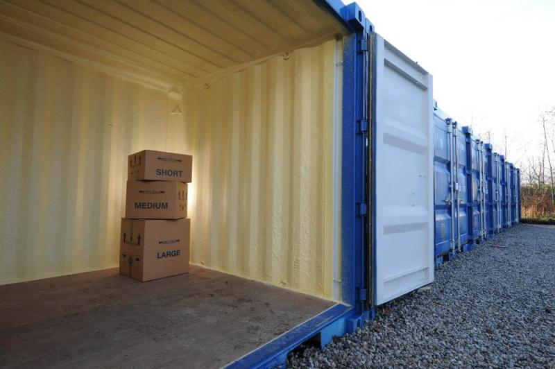 Storage Units with Packing Boxes
